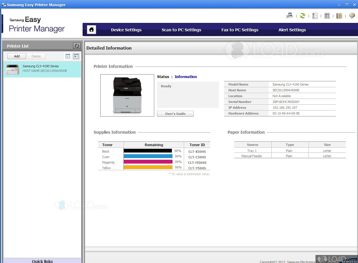 Samsung Easy Printer Manager - Download