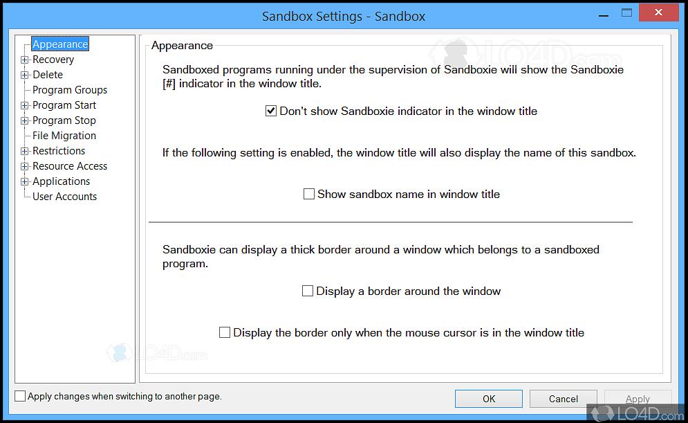 Sandboxie portable - LO4D com