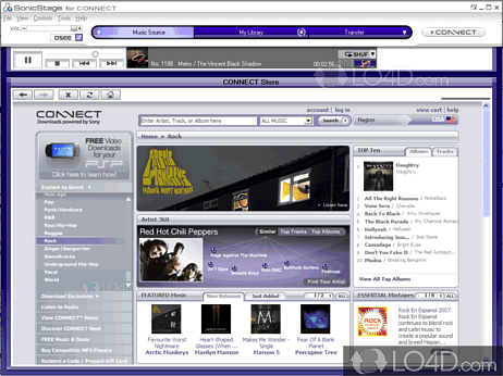 Download sonicstage 4. 3.