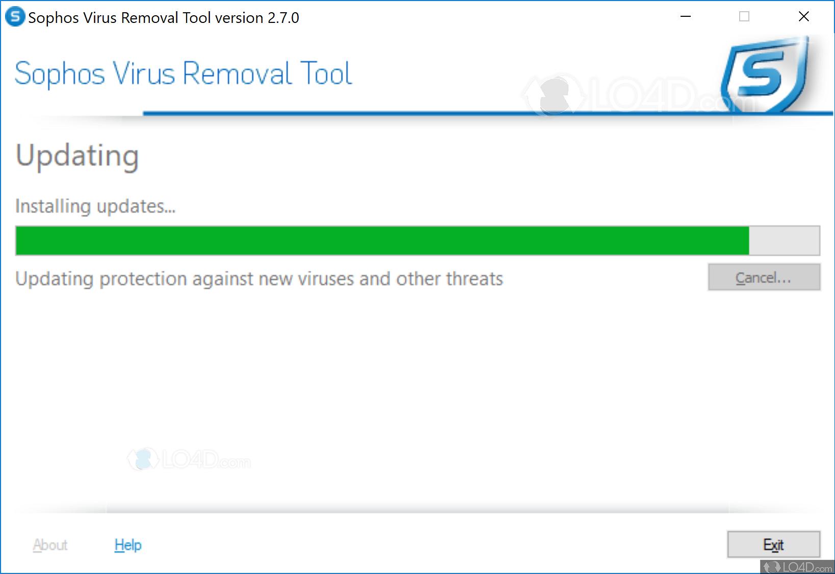 Sophos Virus Removal Tool - Screenshots