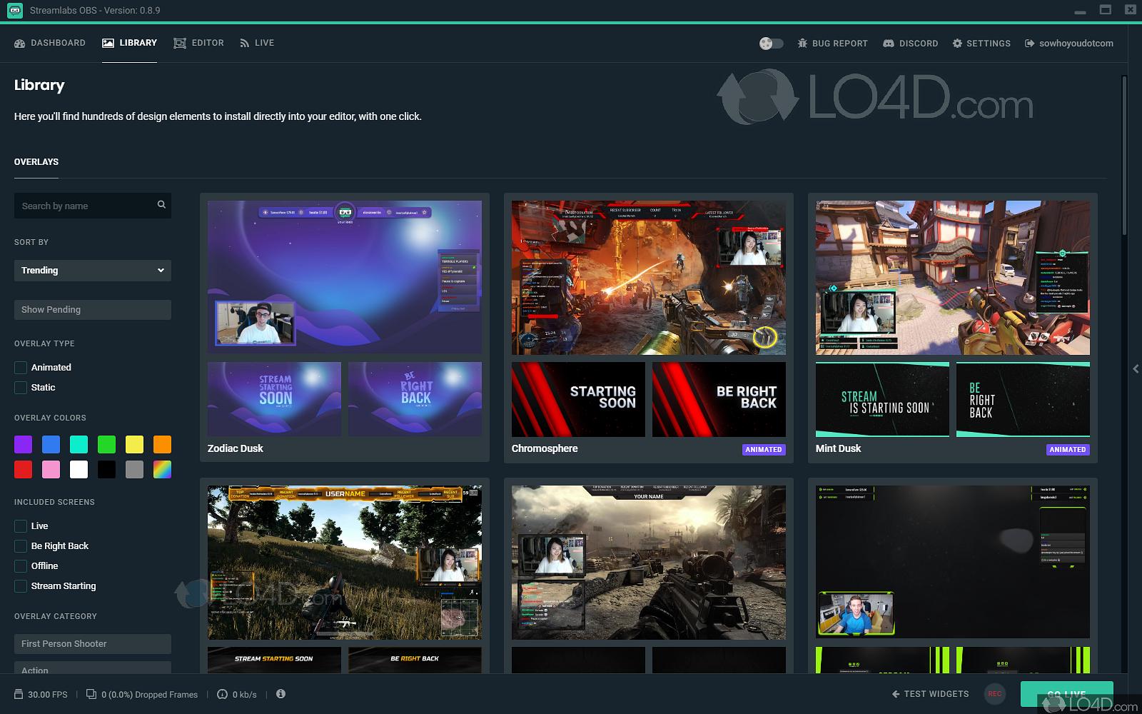 Streamlabs OBS - Screenshots