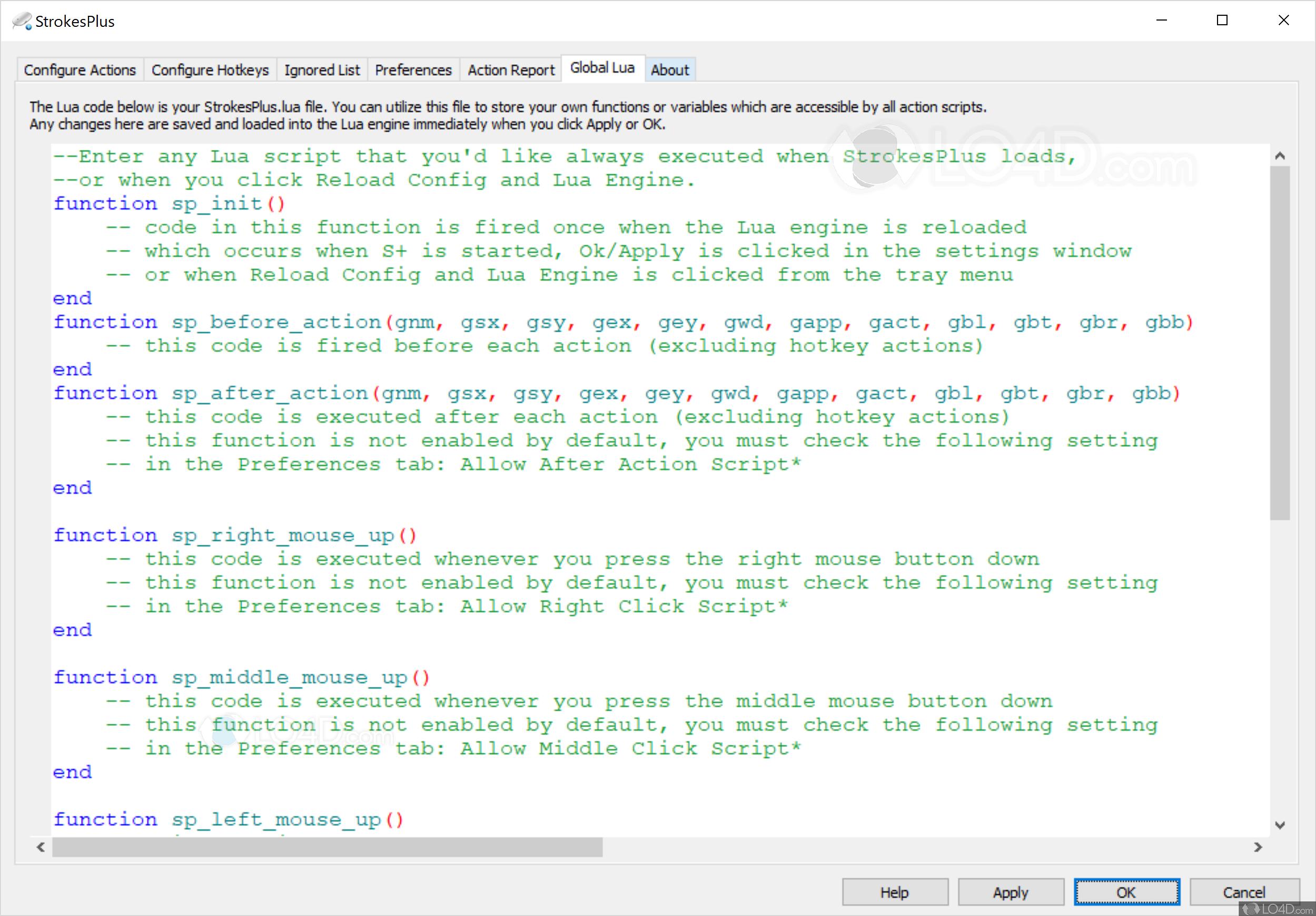 StrokesPlus - Screenshots