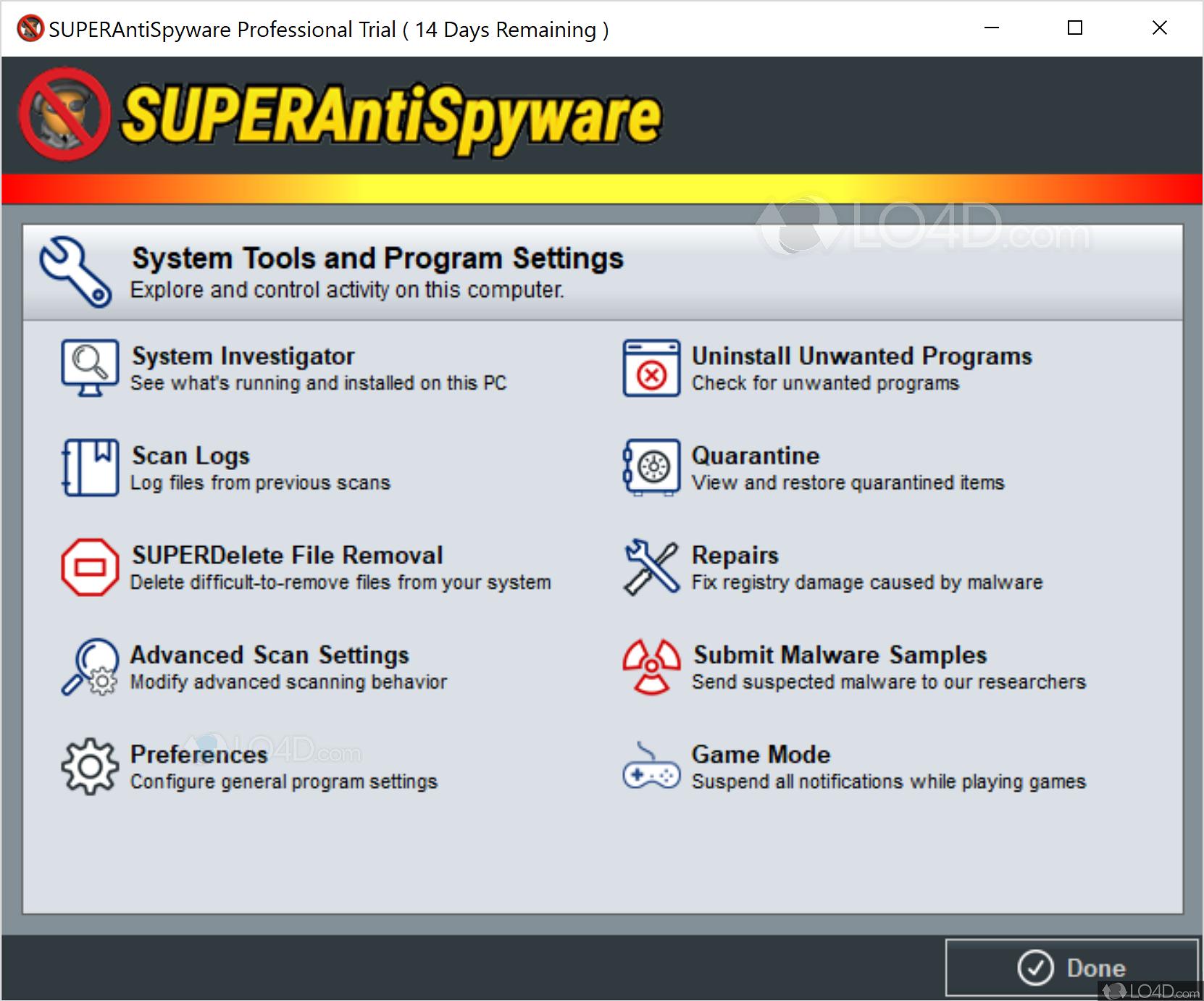 SUPERAntiSpyware Pro - Screenshots
