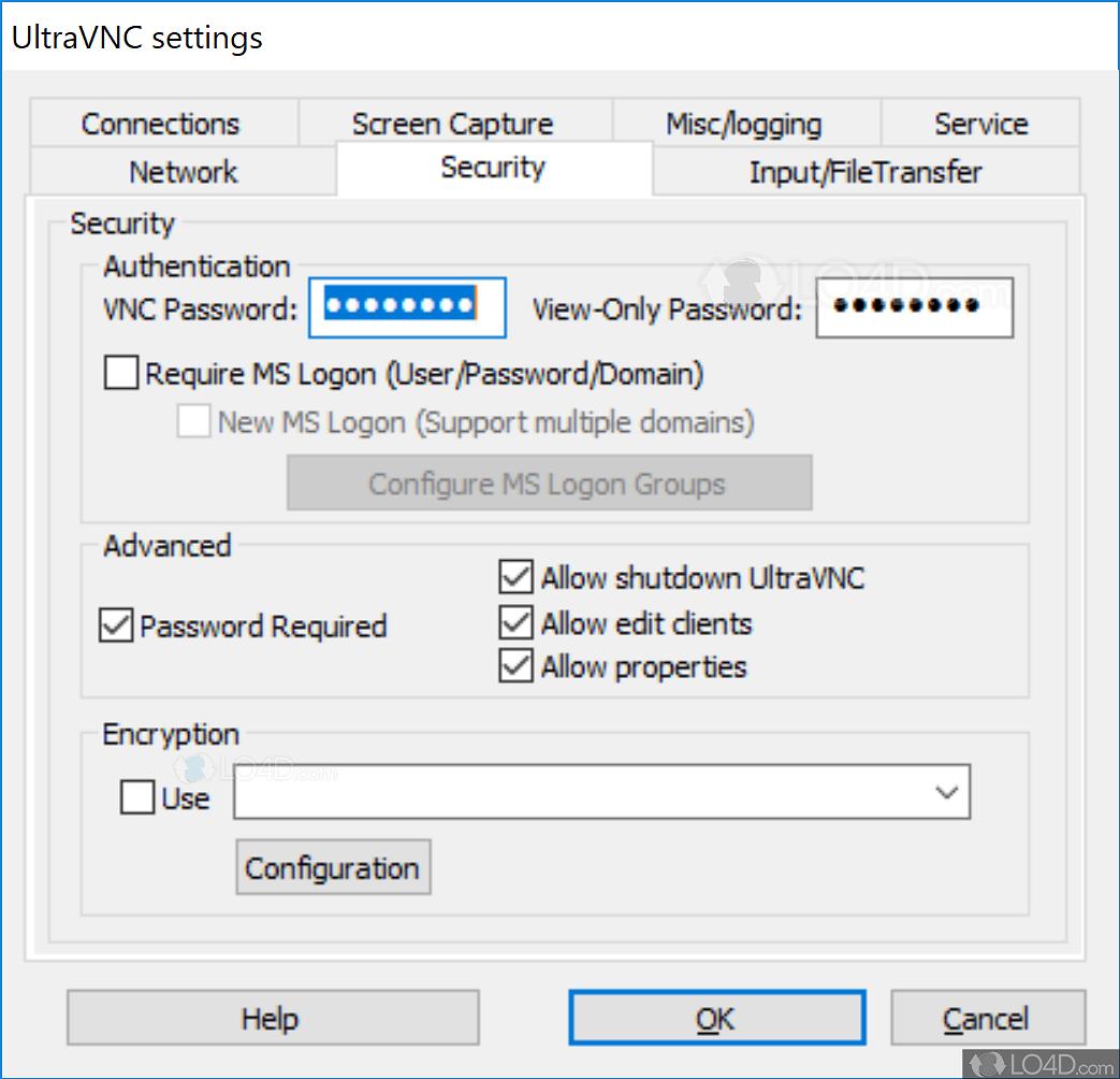 UltraVNC - Screenshots
