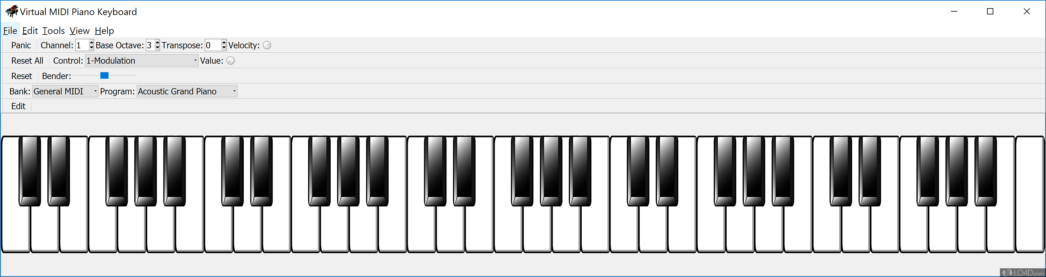 Virtual MIDI Piano Keyboard - Screenshots