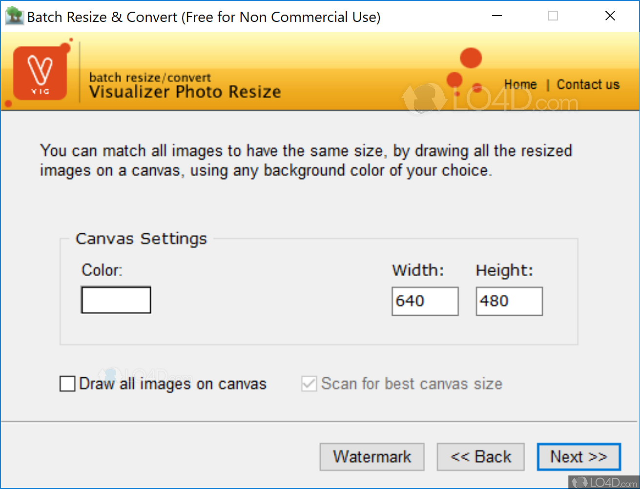 visualizer photo resize