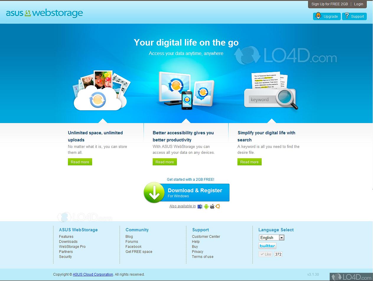 asus webstorage sync agent download