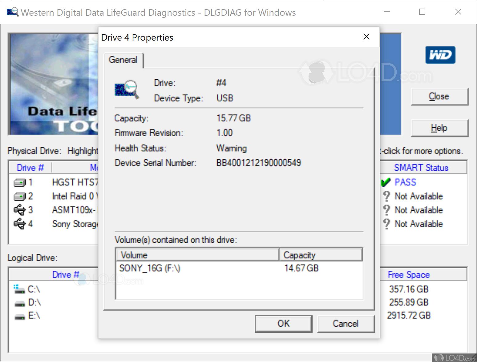 Western Digital Data Lifeguard Diagnostics - Screenshots