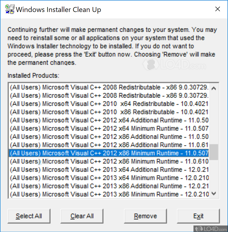 windows installer cleanup utility 2.5.0.1