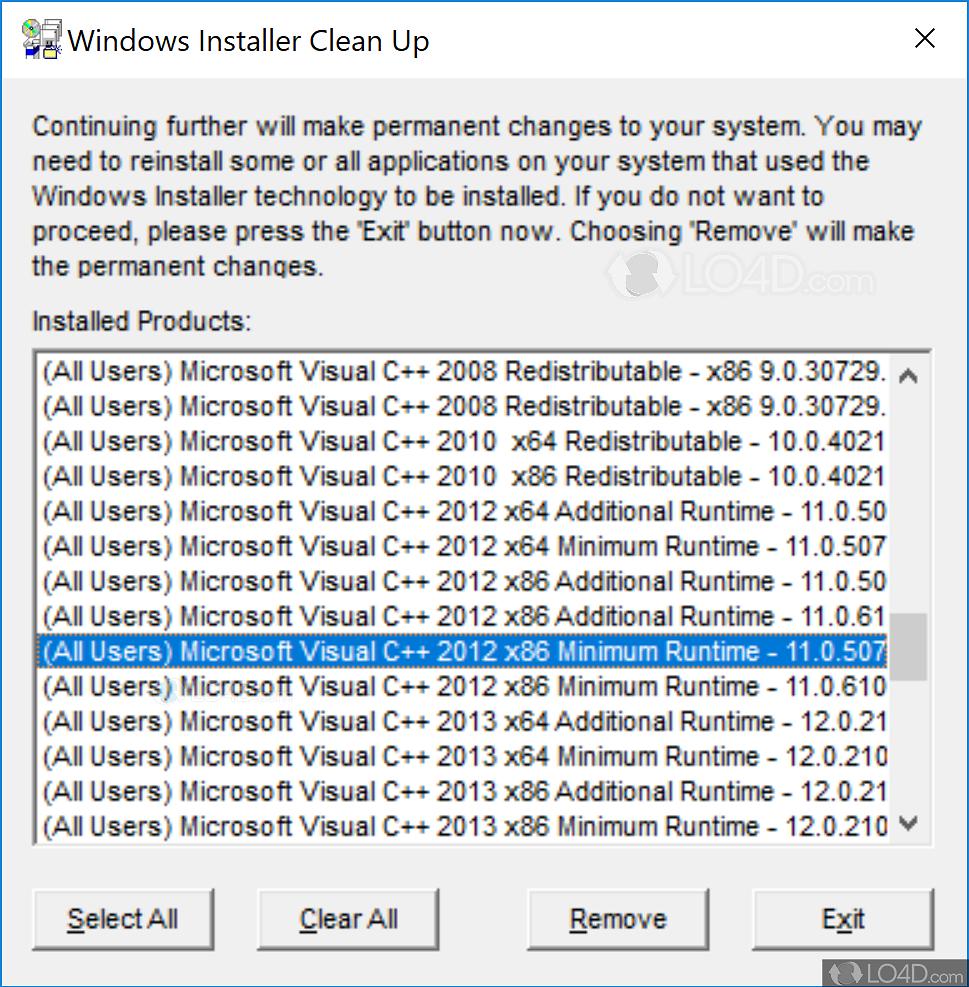 Windows installer cleanup utility download.