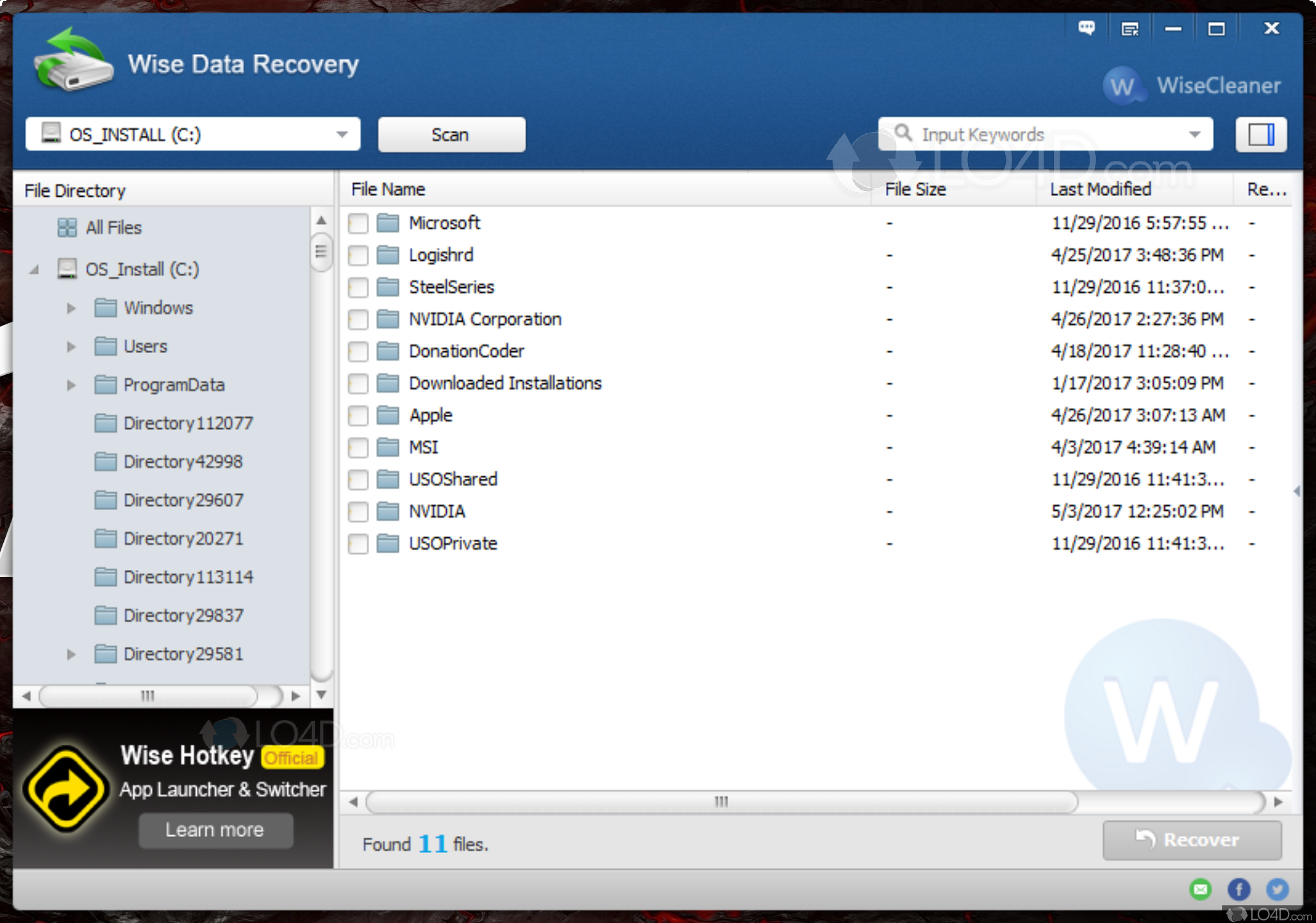 Best data recovery softwares: Wise data recovery Free Download