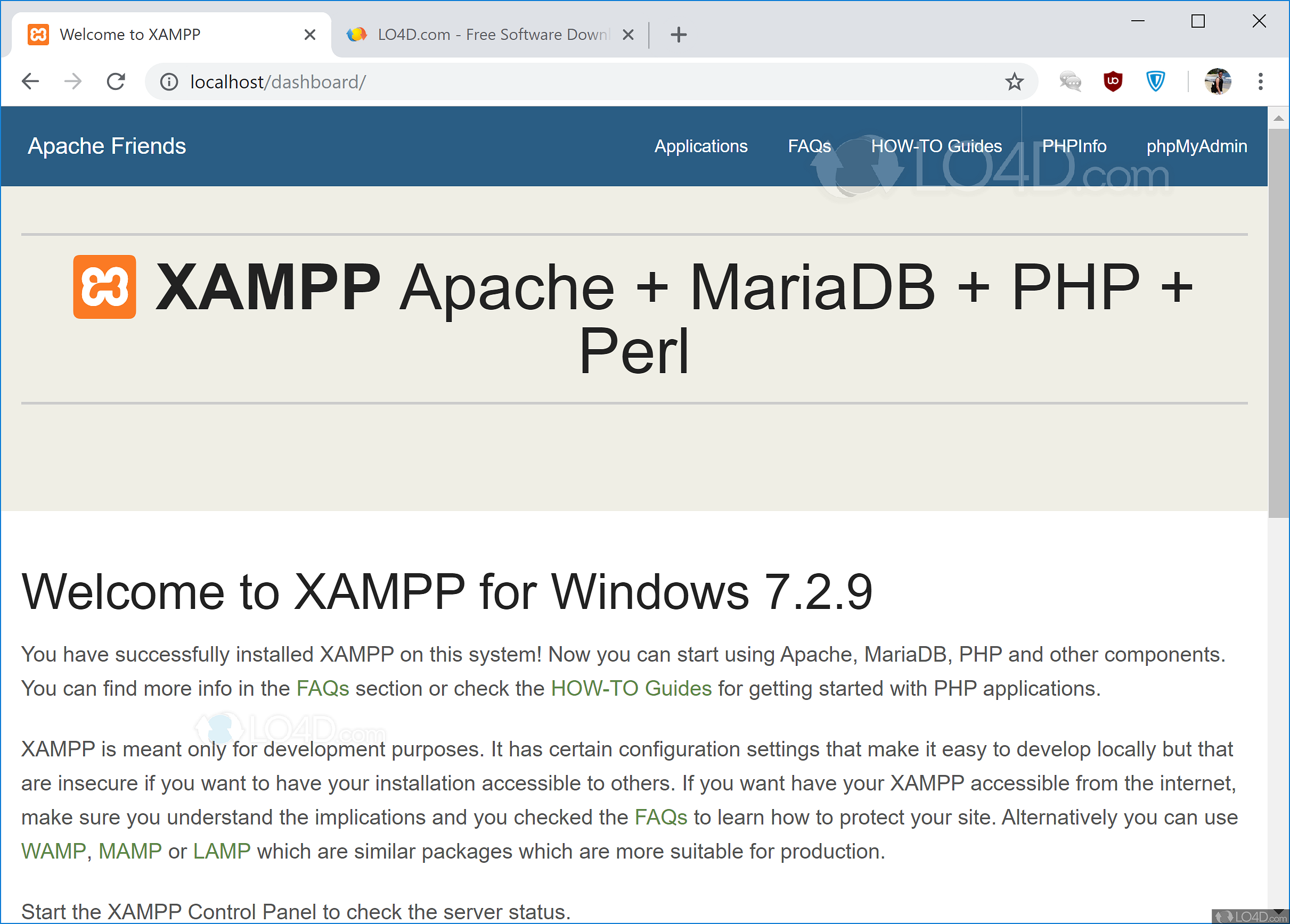 xampp windows 10 64 bit