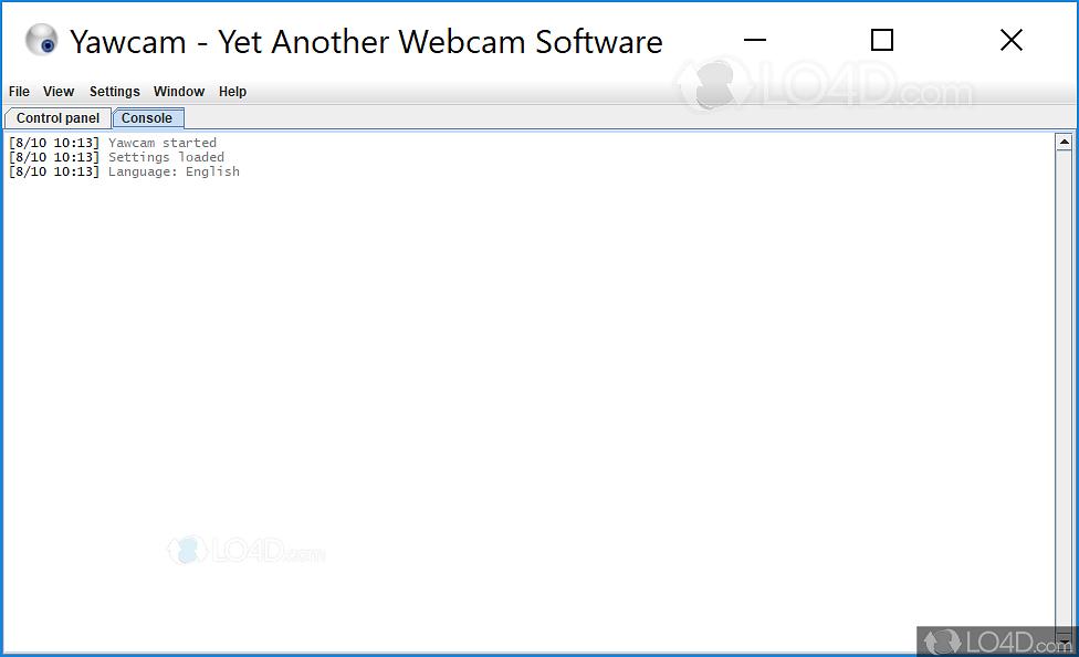 Yawcam - Screenshots