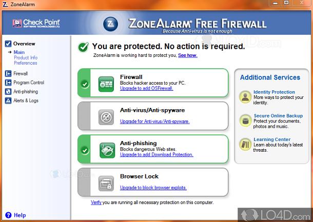 Zonealarm free firewall download.